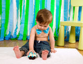 Child is celebrating his first birthday — Stock fotografie