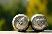 Metal beer can, unopened — Stock Photo