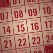 Calendar Month Red — Stock Video