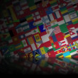 World Flags Reflected HD Loop — Stock Video