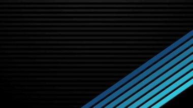 Blue Bars on Black Transitions HD — Stock Video
