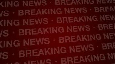 Breaking news bakgrund röd slinga hd — Stockvideo
