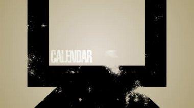 Computer Calendar Loop HD — Stock Video