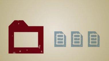 Computer Storage Loop HD — Stock Video