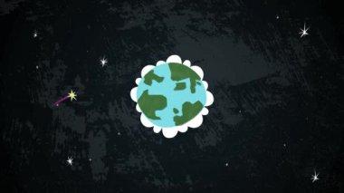 Earth In Space Loop HD — Stock Video