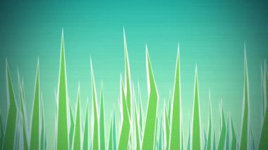 Grass Illustrated Loop HD — Stock Video