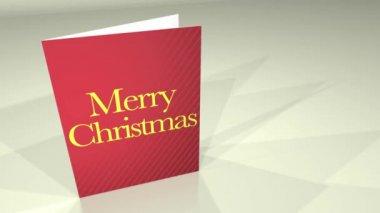 Greetings Card MerryXmas HD — Stock Video