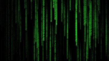 Matrix Binary Rain — Stock Video