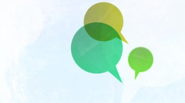 Multicoloured Speech Bubbles — Stock Video #12817818