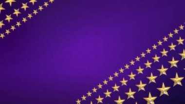 Looping Stars on Royal Purple — Stock Video
