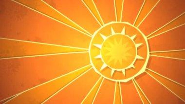Radial Sunshine Loop HD — Stock Video