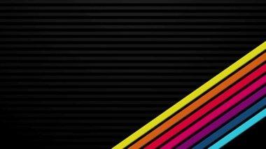 Rainbow Bars on Black Transition — Stock Video