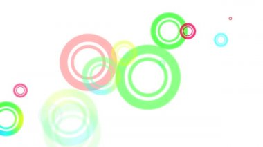 Random Circles Loop HD — Stock Video
