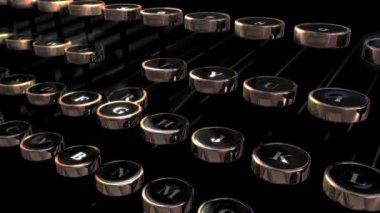 Retro psací stroj klíče — Stock video
