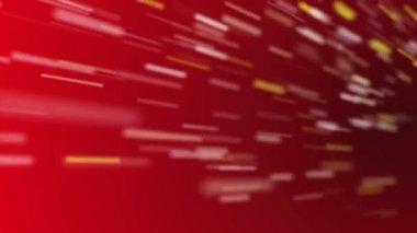 Rychlosti částice červené smyčka — Stock video