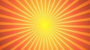 Sunburst Vector Back — Stock Video