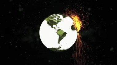 World Exploding Bomb HD — Stock Video