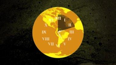 World Clock Face HD — Stock Video