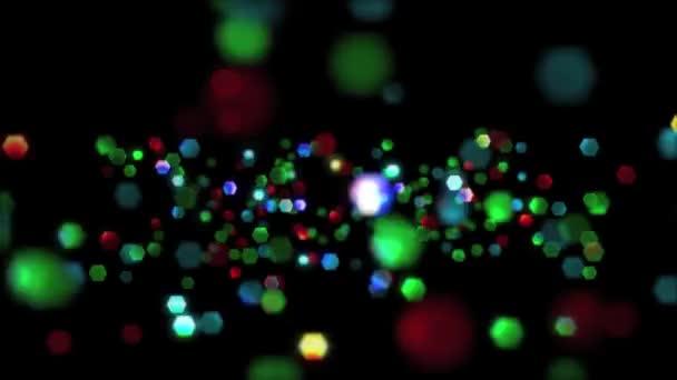 Lazo brillo partículas — Vídeo de stock