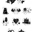 Ten Ornate Wedding Icons — Stock Vector