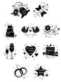 Ten Ornate Wedding Icons — Stock Vector