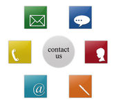 Contact signs — Stock Photo
