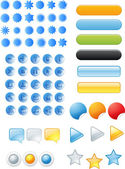 Buttons and icons — Stock Vector