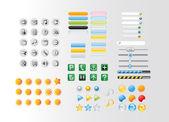 Knoppen en pictogrammen — Stockfoto