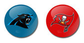 Panthers vs buccaneers — Stock Photo