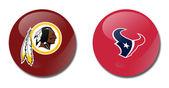 Redskins vs texans — Stock Photo