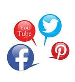 социальные сети — Стоковое фото