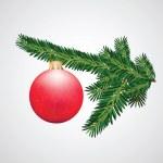Gift box Christmas decoration — Stock Vector