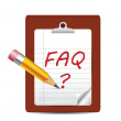 FAQ Icon Isolated on White — Stock Vector