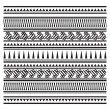 Illustration of Aztec pattern — Stock Vector