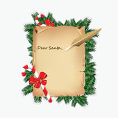 A letter to santa — Stock Vector
