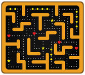 Coloted Crazy Maze — Stock Vector