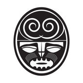 Illustration of Maori style symbol — Vettoriale Stock