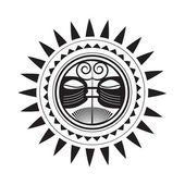Tatuaggio bello stile polinesiano — Vettoriale Stock
