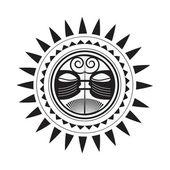 Beautiful Polynesian style tattoo — Stock Vector