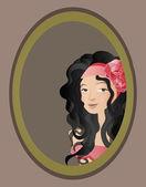 """Illustration der """"zigeuner""""-porträt — Stockvektor"""