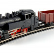 Toy Steam Train and freight wagon — Stock Photo #2904969