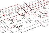 Shematic diagrama — Foto Stock