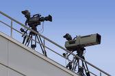 Câmeras de tv — Fotografia Stock