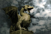 Dragon in stone — Stock Photo