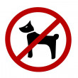 Royalty-Free Stock Photo: No Dogs Sign
