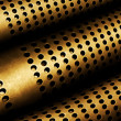 Perforated Metal Pipes — Stock Photo
