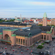 Helsinki railway station. - Stock Photo
