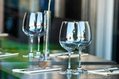 Glasses on the table. — Stock Photo