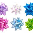 Stock Photo: Set of colorful bows.