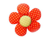 Fabric flower red color. — Stock Photo